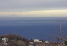 View of the Aegean Sea and Sporades islands